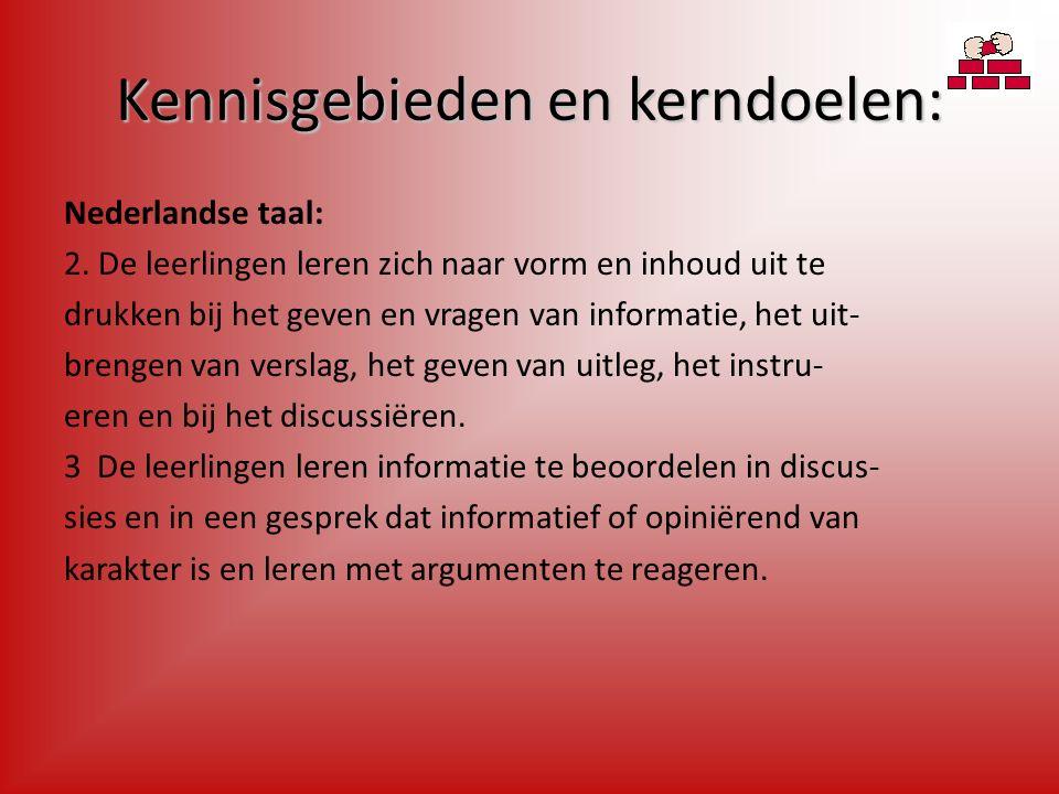 Kennisgebieden en kerndoelen: Nederlandse taal: 2.