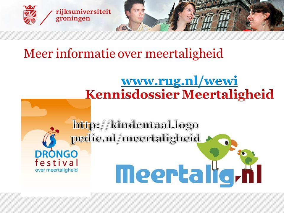 Meer informatie over meertaligheid