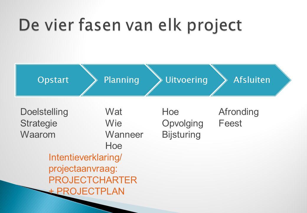  Geef voorbeelden van wat goed ging in projecten waarbij jij betrokken was.