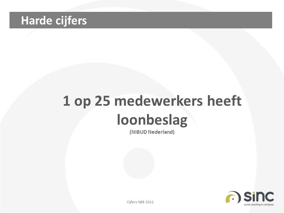Harde cijfers 1 op 25 medewerkers heeft loonbeslag (NIBUD Nederland) Cijfers NBB 2012