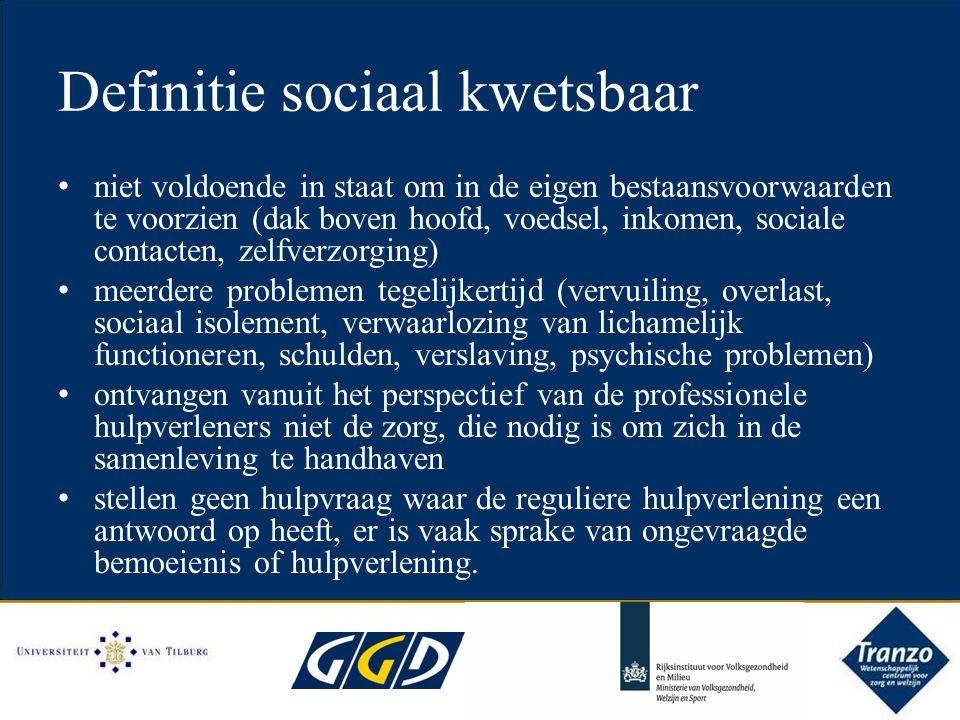 Doelgroep Sociaal kwetsbaren en degenen met een hoog risico om kwetsbaar te worden - Volwassenen en ouderen (m.u.v.