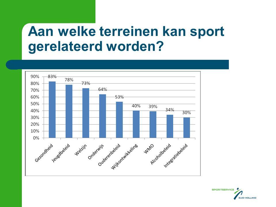 Aan welke terreinen kan sport gerelateerd worden