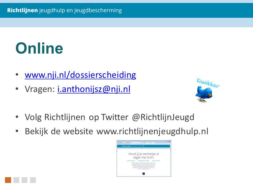 Online www.nji.nl/dossierscheiding Vragen: i.anthonijsz@nji.nli.anthonijsz@nji.nl Volg Richtlijnen op Twitter @RichtlijnJeugd Bekijk de website www.ri