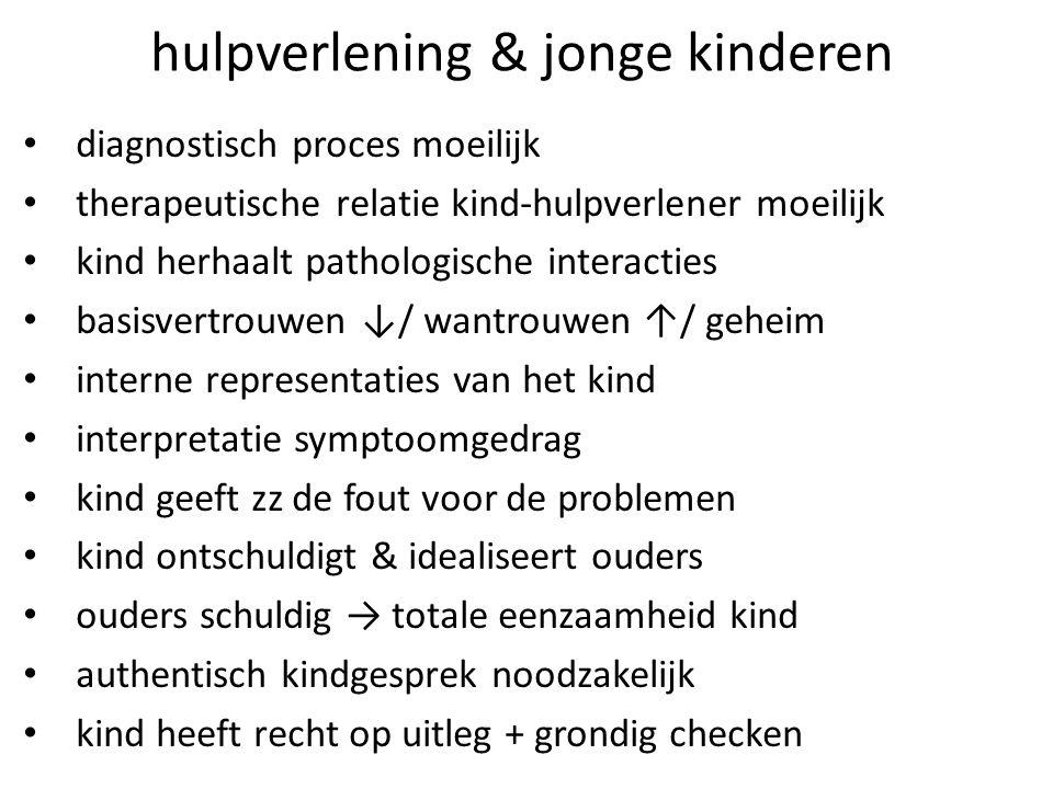 hulpverlening & jonge kinderen diagnostisch proces moeilijk therapeutische relatie kind-hulpverlener moeilijk kind herhaalt pathologische interacties