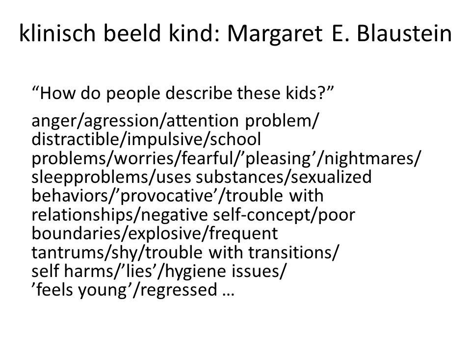 klinisch beeld kind: Margaret E.