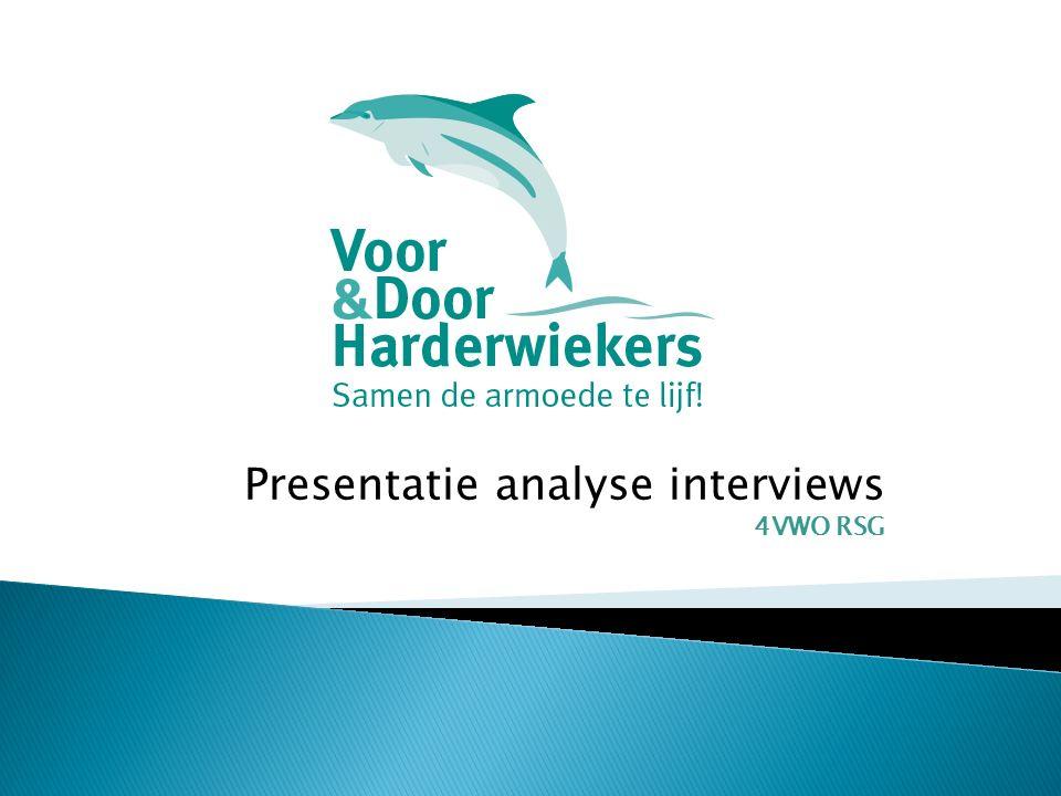 Presentatie analyse interviews 4VWO RSG