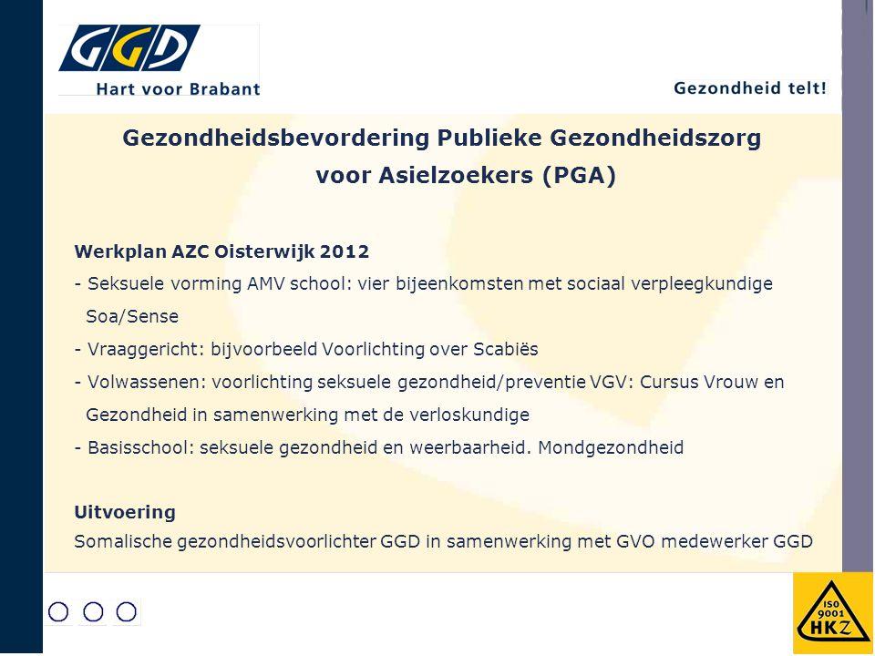 Werkplan AZC Oisterwijk 2012 - Seksuele vorming AMV school: vier bijeenkomsten met sociaal verpleegkundige Soa/Sense - Vraaggericht: bijvoorbeeld Voor