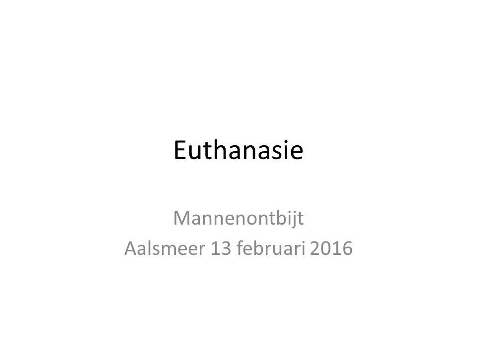 Euthanasie Mannenontbijt Aalsmeer 13 februari 2016