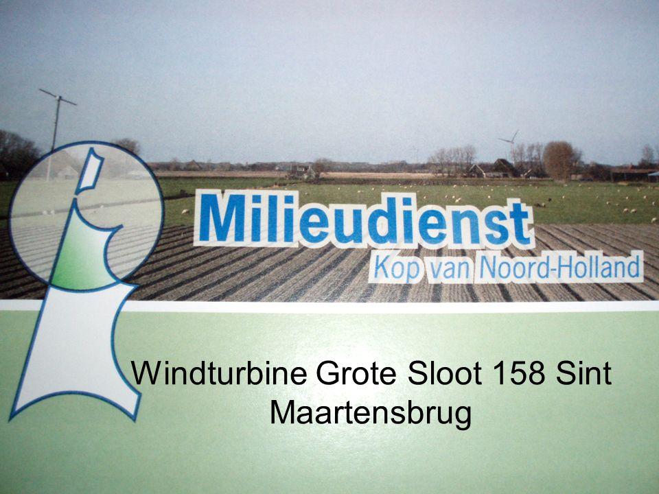 Windturbine Grote Sloot 158 Sint Maartensbrug