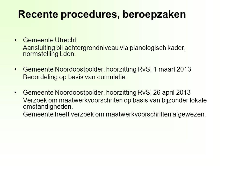 Gemeente Utrecht Aansluiting bij achtergrondniveau via planologisch kader, normstelling Lden.