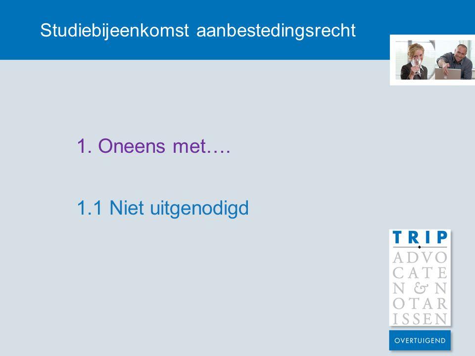 Studiebijeenkomst aanbestedingsrecht Proportionele procedure?.