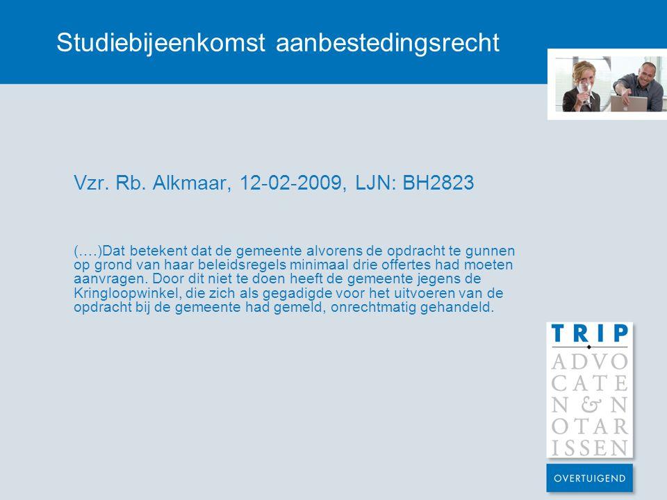 Studiebijeenkomst aanbestedingsrecht Vzr.Rb.