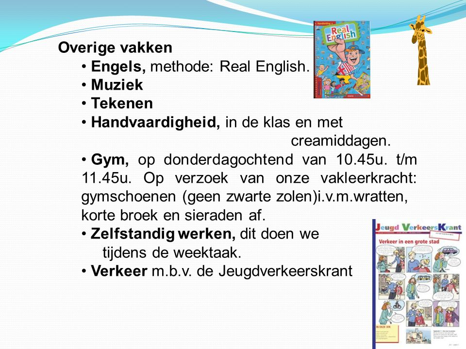 Overige vakken Engels, methode: Real English.
