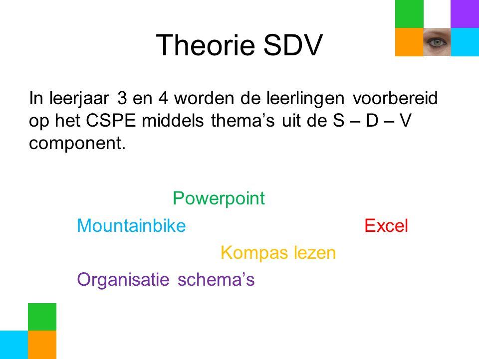 Theorie SDV In leerjaar 3 en 4 worden de leerlingen voorbereid op het CSPE middels thema's uit de S – D – V component.