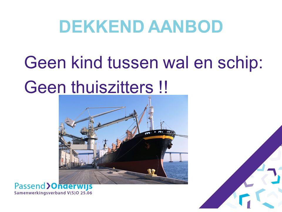 DEKKEND AANBOD Geen kind tussen wal en schip: Geen thuiszitters !!