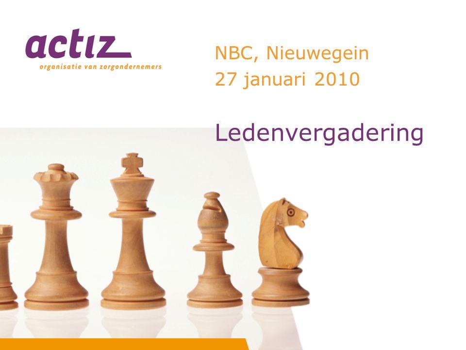Ledenvergadering NBC, Nieuwegein 27 januari 2010