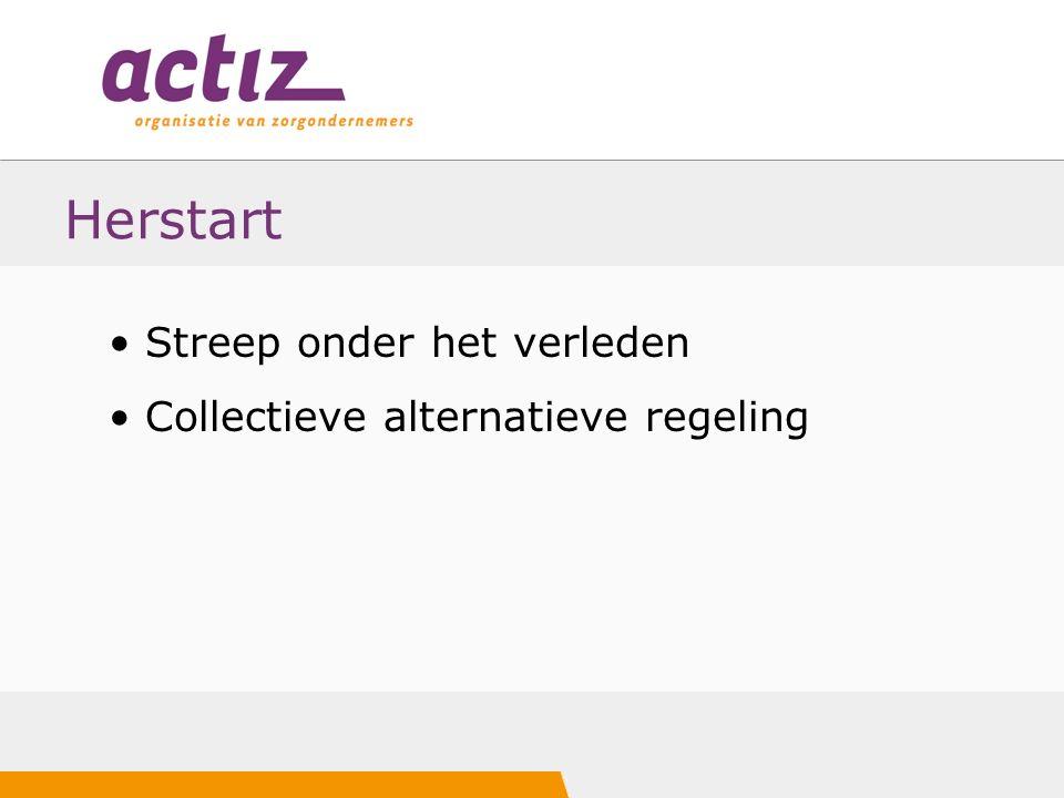 Herstart Streep onder het verleden Collectieve alternatieve regeling