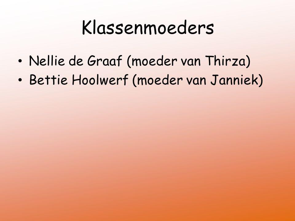 Klassenmoeders Nellie de Graaf (moeder van Thirza) Bettie Hoolwerf (moeder van Janniek)