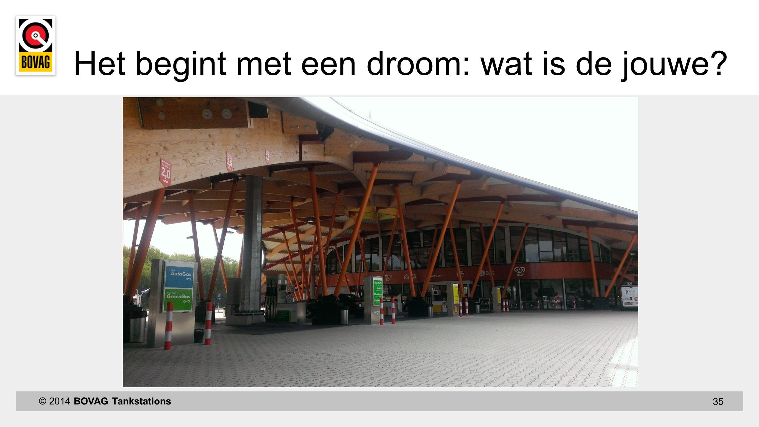 35 © 2014 BOVAG Tankstations Het begint met een droom: wat is de jouwe
