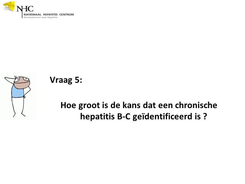 Vraag 5: Hoe groot is de kans dat een chronische hepatitis B-C geïdentificeerd is