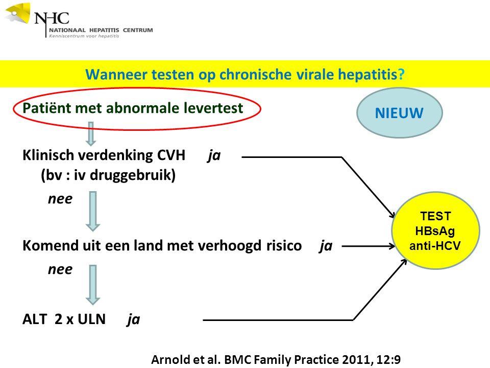 Wanneer testen op chronische virale hepatitis.