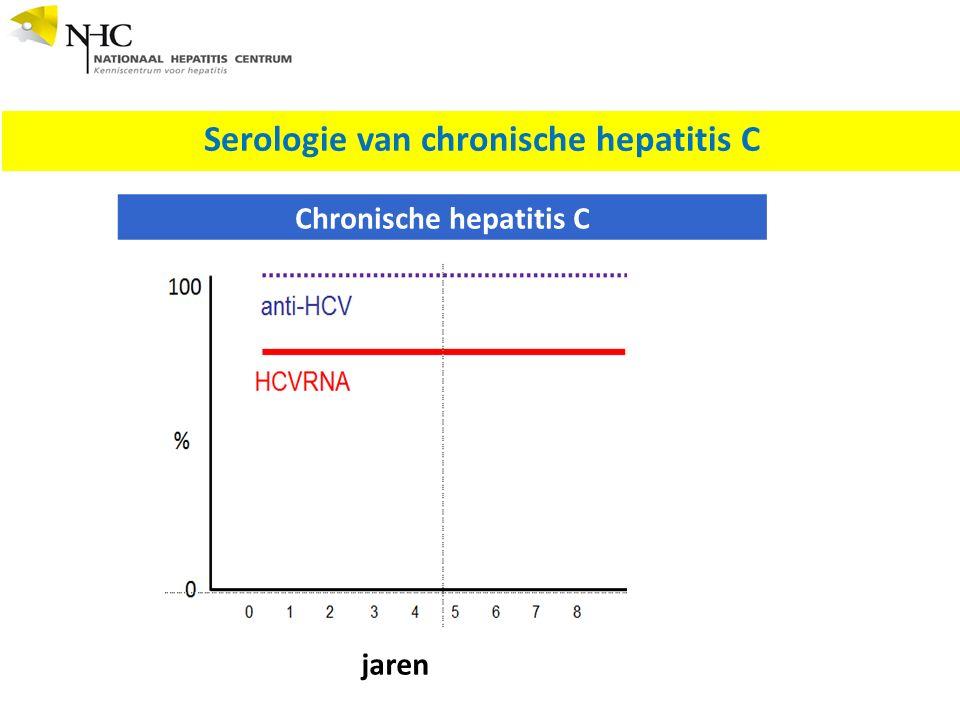 Serologie van chronische hepatitis C Chronische hepatitis C jaren