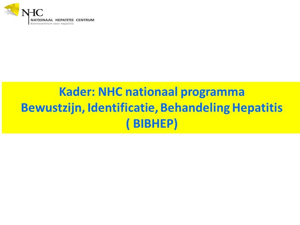 Kader: NHC nationaal programma Bewustzijn, Identificatie, Behandeling Hepatitis ( BIBHEP)