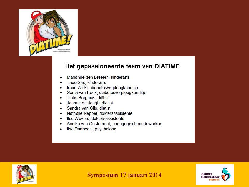 | 2 Symposium 17 januari 2014 Het gepassioneerde team van DIATIME