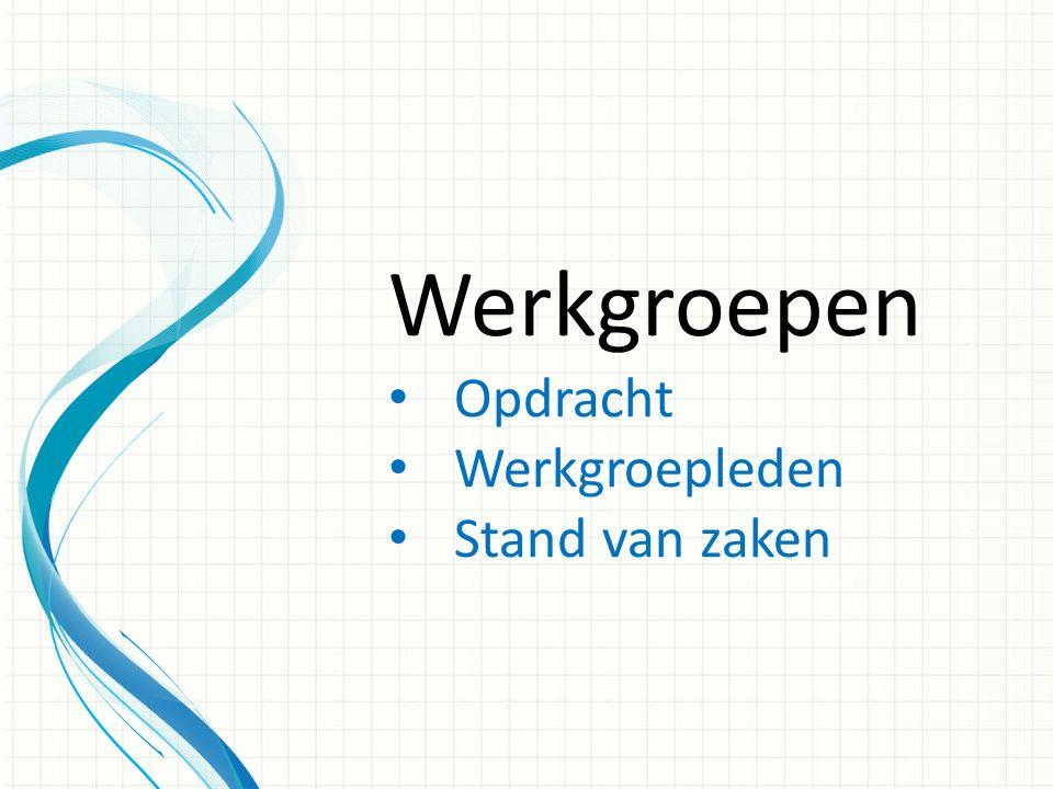 Werkgroep Identiteit Opdracht: Duidelijkheid over de invulling/ vormgeving van de identiteit in de onderwijspraktijk.