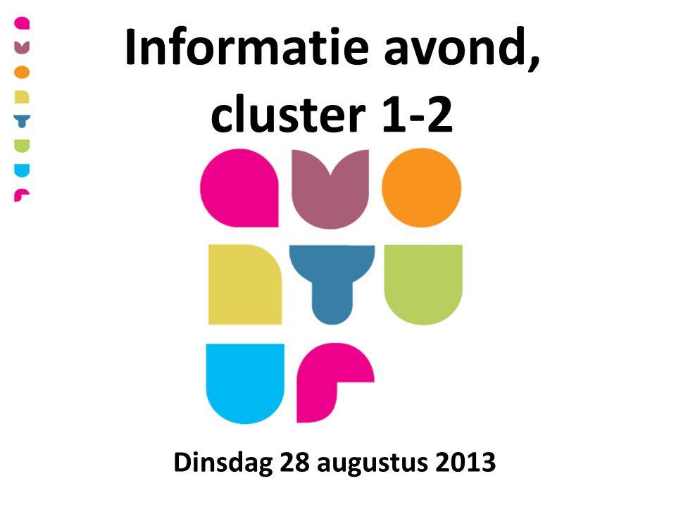 Informatie avond, cluster 1-2 Dinsdag 28 augustus 2013