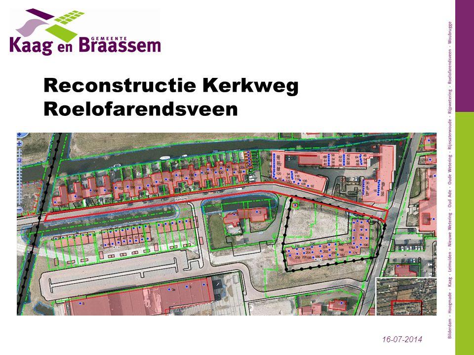 Reconstructie Kerkweg Roelofarendsveen 16-07-2014