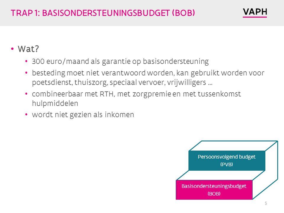 TRAP 1: BASISONDERSTEUNINGSBUDGET (BOB) Wat.