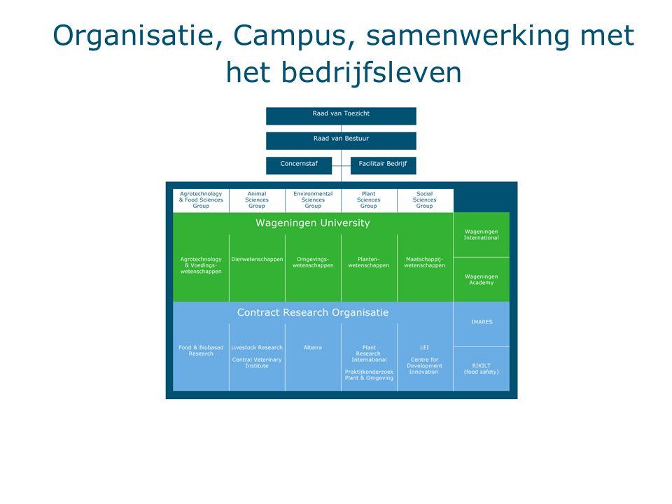 Organisatie, Campus, samenwerking met het bedrijfsleven