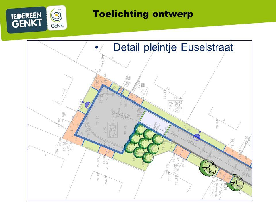 Detail pleintje Euselstraat Toelichting ontwerp