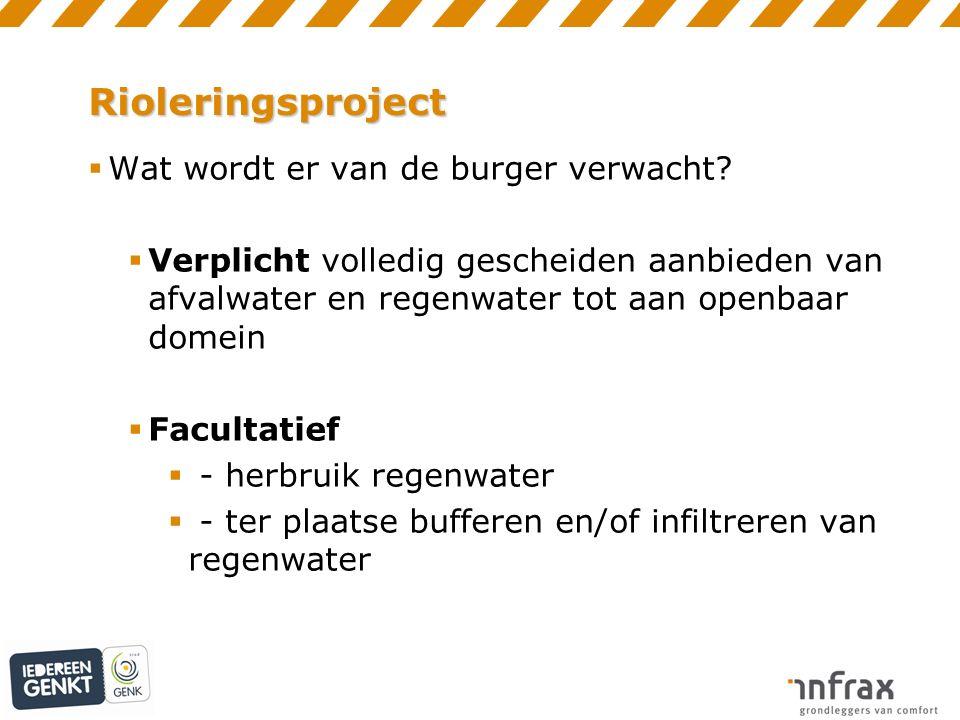 Rioleringsproject  Wat wordt er van de burger verwacht.