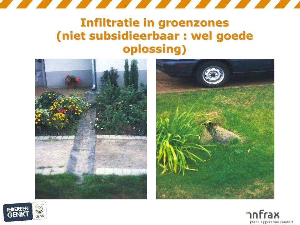 Infiltratie in groenzones (niet subsidieerbaar : wel goede oplossing )