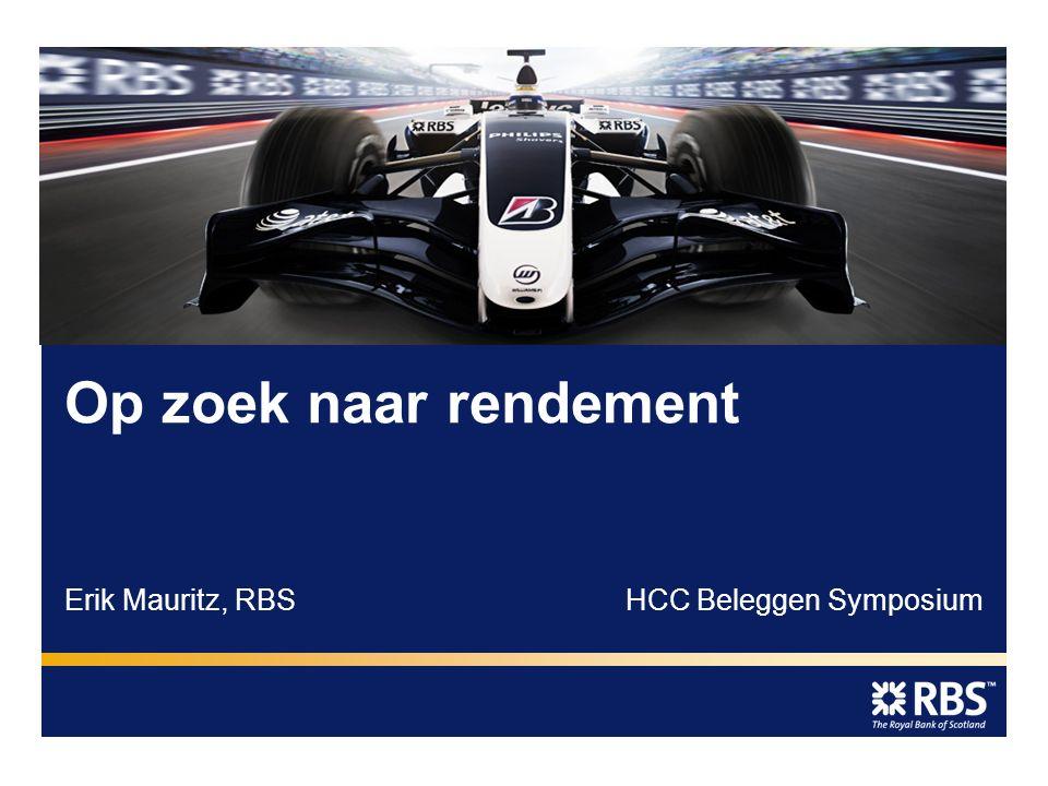 Erik Mauritz, RBSHCC Beleggen Symposium Op zoek naar rendement