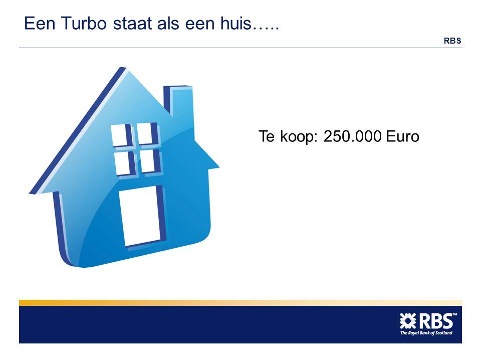 RBS Een Turbo staat als een huis….. Te koop: 250.000 Euro