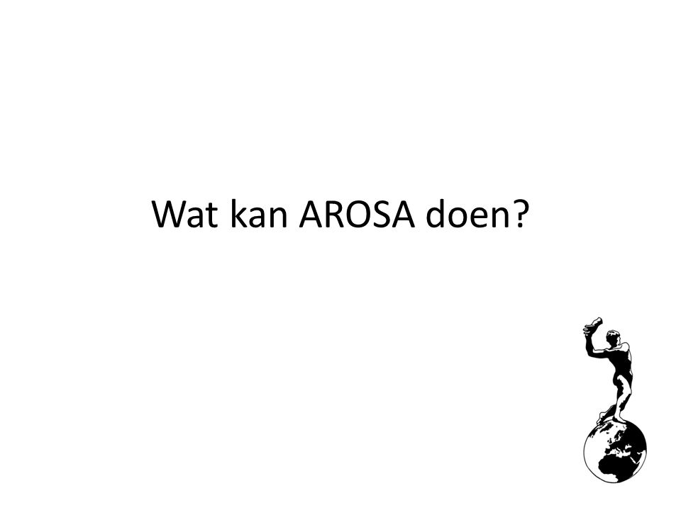 Wat kan AROSA doen?
