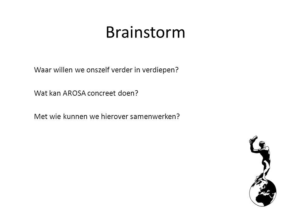 Brainstorm Waar willen we onszelf verder in verdiepen.