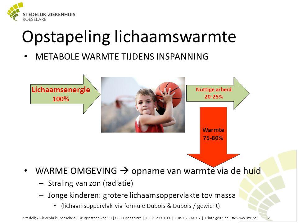 Stedelijk Ziekenhuis Roeselare | Brugsesteenweg 90 | 8800 Roeselare | T 051 23 61 11 | F 051 23 66 87 | E info@szr.be | W www.szr.be 3