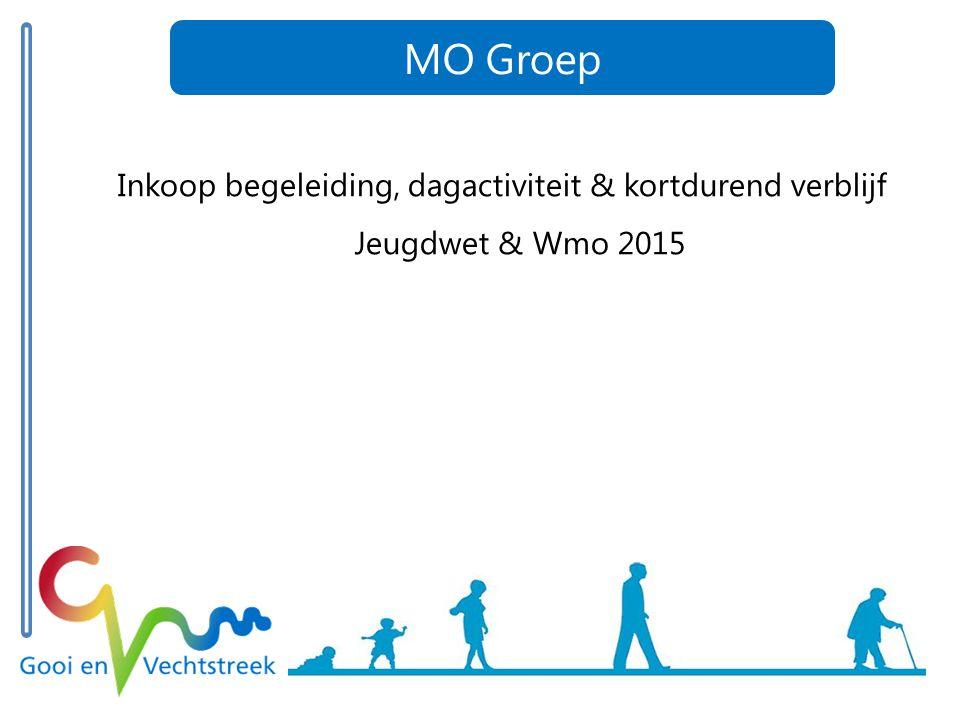 Inkoop begeleiding, dagactiviteit & kortdurend verblijf Jeugdwet & Wmo 2015 MO Groep