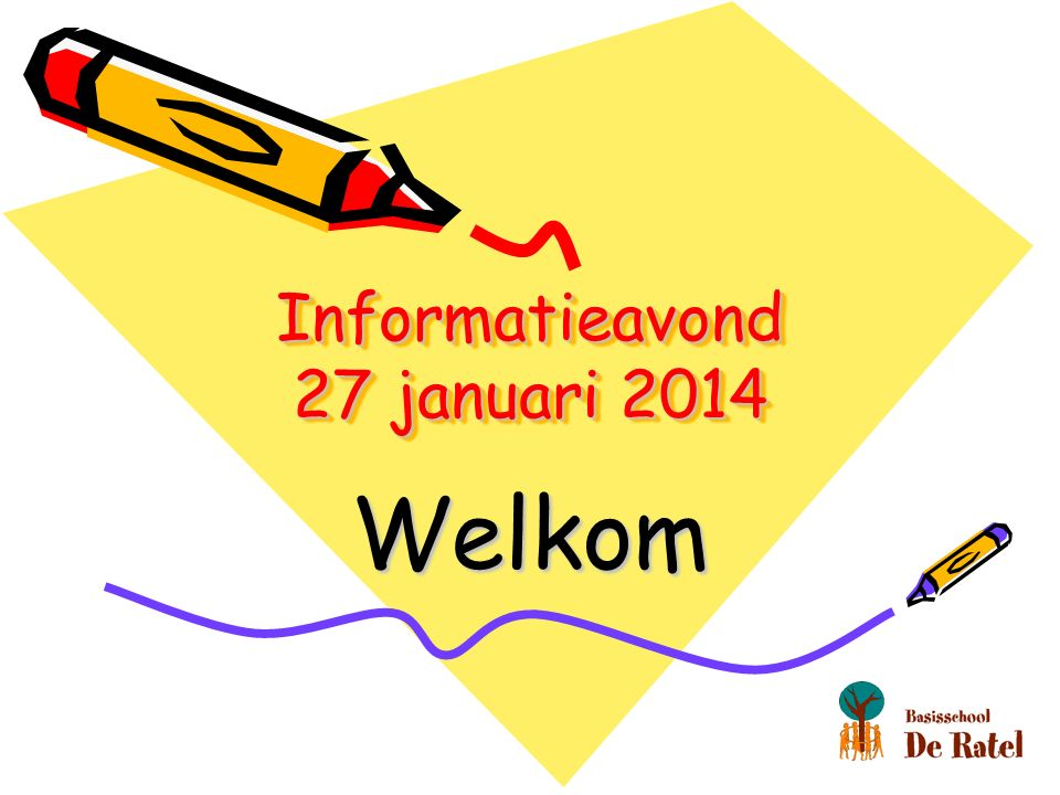 Informatieavond 27 januari 2014 Welkom