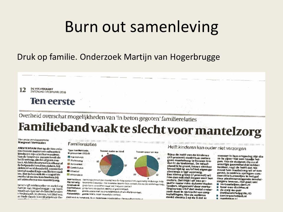 Burn out samenleving Druk op familie. Onderzoek Martijn van Hogerbrugge