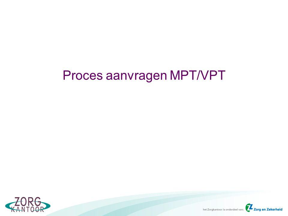 Proces aanvragen MPT/VPT