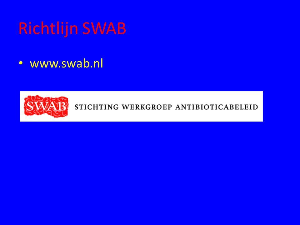 Richtlijn SWAB www.swab.nl