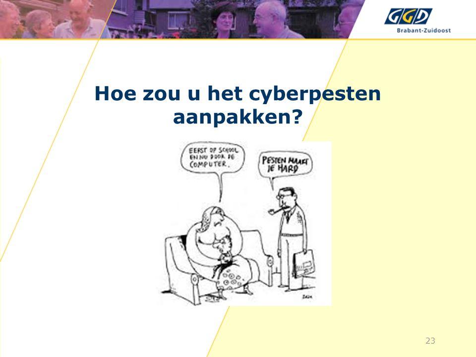 Hoe zou u het cyberpesten aanpakken? 23
