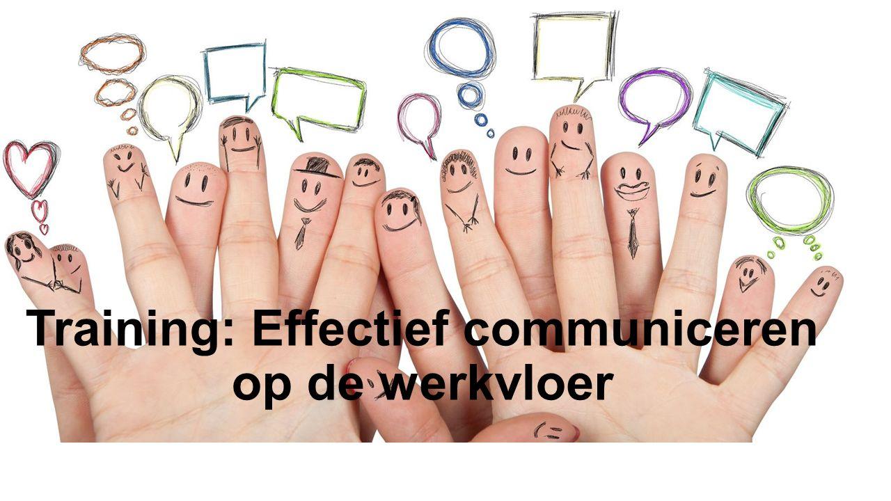 Training: Effectief communiceren op de werkvloer