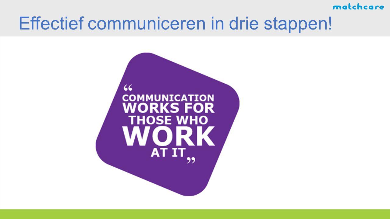 Effectief communiceren in drie stappen!