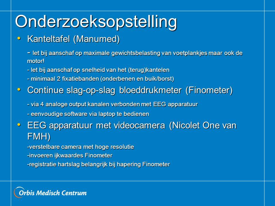 Onderzoeksopstelling Kanteltafel (Manumed) Kanteltafel (Manumed) - let bij aanschaf op maximale gewichtsbelasting van voetplankjes maar ook de motor.